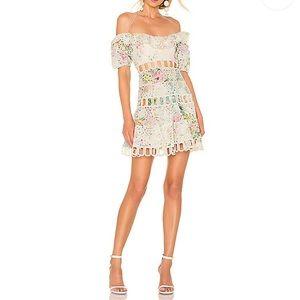 NWOT🦄 Zimmermann Garden Floral Off-shoulder Dress